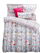 Mingjie Wonderful Grey Trees and Red Birds Bedding Sets 4PCS for Twin Full Queen King Size from China Contian 1 Duvet Cover 1 Flatsheet 2 Pillowcases