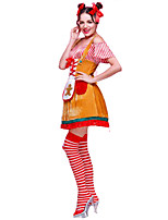 Christmas CostumeHoliday Halloween Costumes Yellow Solid Top / Skirt / More Accessories / Headwear Christmas Female Polyester