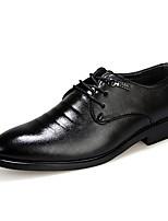 Черный-Мужской-На каждый день-Полиуретан-На низком каблуке-Удобная обувь-Туфли на шнуровке