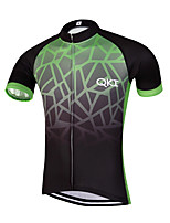 QKI Dar Pro Cycling Jersey Men's Short Sleeve Bike Breathable / Quick Dry / Anatomic Design / Front Zipper / Reflective Strips
