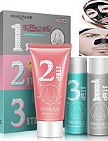 3PCS BIOAQUA Facial Nose Blackhead Strip Remover Mask Deep Cleanser Set Suction Peel Off Black Head Acne Face Mask Set