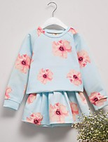 Girl Casual/Daily Solid Sets,Cotton Fall Long Sleeve Clothing Set
