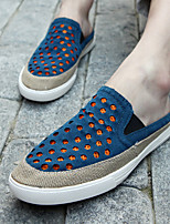 Men's Loafers & Slip-Ons Summer Comfort Leather Casual Blue Green Orange