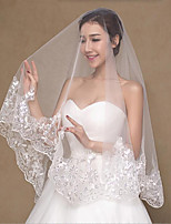 Wedding Veil Two-tier Fingertip Veils Lace