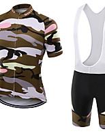Спорт Велокофты и велошорты-комбинезоны унисекс Короткие рукава ВелоспортДышащий / Быстровысыхающий / Защита от пыли / Пригодно для носки