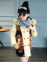 Girl Casual/Daily Polka Dot Down & Cotton Padded,Cotton / Rayon Winter / Spring / Fall Long Sleeve