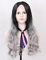 Heat Resistant Ombre T1B/Black Color Synthetic Lace Wig Body Wave Hair Black Root Lace Front Wig With Back Adjustable Strap