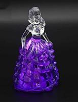 הובל מנורת אווירת קישוט צבעונית קריסטל נסיכת תאורת חידוש אור חג המולד