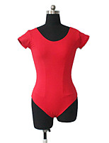 Ballet Leotards Women's / Children's Training Cotton / Lycra Pleated 1 Piece Short Sleeve Leotard
