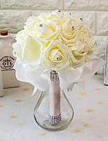 Bouquets de Noiva Redondo Rosas Buquês Casamento / Festa / noite Cetim / Espuma 7.87