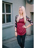 מודלי פיצוץ aliexpress סחר אמזון 2016 נשים חדשות&# 39; s עגול צוואר קצר שרוול חולצת טריקו תפרים בצבע