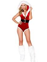 Adults Womens Santa Claus Christmas Costume Party Dress Ladies Velvet Dress Sexy santa Dress Santa Claus Costumes Outfit