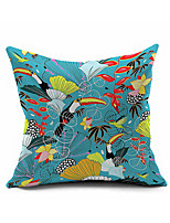 Animal Cartoon Cotton Linen Throw Pillow Case Home Decorative  Cushion Cover Pillowcase Car Pillow cover(Set of 1)