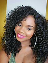 130 Density Kinky Curly Wig Brazilian Human Hair Afro Kinky Curly Wig Glueless Lace Front Wigs For Women