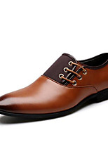 Men's Oxfords Spring / Fall / Winter Others Leatherette Wedding / Office & Career / Party & Evening Flat Heel Lace-up Black / Brown / Yellow Oxford