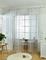One Panel Curtain European / Neoclassical , Polka Dots Living Room Polyester Material Sheer Curtains Shades Home Decoration For Window