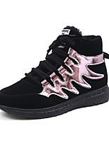 Розовый / Серебристый-Женский-На каждый день-Полиуретан-На плоской подошве-Удобная обувь-Кеды