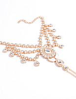 Women's Anklet/Bracelet Gemstone Rhinestone Alloy Victorian Vintage Drop Silver Golden Women's Jewelry Wedding Party