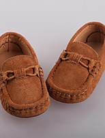 Boy's Loafers & Slip-Ons Fall Other Comfort Moccasin Leather Outdoor Casual Flat Heel Split Joint Blue Khaki Camel Other