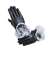 Type U Autumn And Winter Touch Screen Genuine Leather Warm Gloves