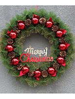 Natal de plástico grinalda / decoração de simulação