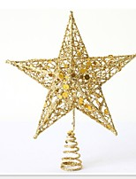 Hot Selling Christmas Tree Top Star Christmas Star 15Cm Christmas Tree Topstar Pentagram Christmas