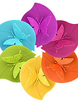 Ryback Butterfly on Leaf Silicone Cup Lid Anti-dust Leak Proof Designer Mug Cover Random Color