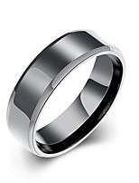 Ring Others Unique Design Fashion Halloween Wedding Party Daily Casual Sports Jewelry Stainless Steel Men Ring 1pc,7 8 9 10 Black