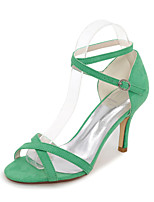 Women's Sandals Spring Summer Fall Others Velvet Office & Career Dress Casual Stiletto Heel Black Blue Green Red Almond