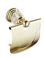 Porte Papier Toilette / Doré10.5*20*15 /Laiton / Cristal /Contemporain /10.5 20 0.55