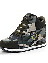 Women's Sneakers Winter Comfort Suede Casual Wedge Heel Lace-up Light Green Other