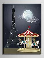 Toile Tendue LED Paysage Modern / Style européen,Un Panneau Toile Verticale Imprimer Art Décoration murale For Décoration d'intérieur