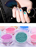 1Box Candy Coral Stone Nail Art Powder Decorations DIY UV Gel Nail Dust Manicure Tools