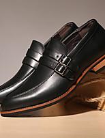 Черный / Коричневый-Мужской-На каждый день-МикроволокноУдобная обувь-Туфли на шнуровке