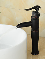 High Quality Oil-rubbed Bronze Personalized Single Handle Bathroom Sink Faucet(Hight)