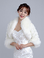 Women's Wrap Shrugs Faux Fur Wedding / Party/Evening /  Casual Winter Solid Thick White