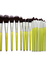 23Pcs Makeup Brush  Set Green Bamboo Handle Environmental Nylon Hair Beauty Makeup Tools