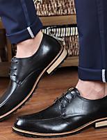 Черный / Коричневый / Красный-Мужской-На каждый день-ПолиуретанOthers-Туфли на шнуровке