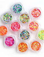 12pcs/set Nail Sequins Jewelry