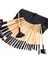 24 Makeup Brushes Set Horse Hair Professional / Portable Wood Handle Face/Eye/Lip