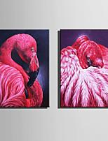 Холст Set Животное Европейский стиль,2 панели Холст Вертикальная Печать Искусство Декор стены For Украшение дома