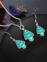 Women's Fashion Euramerican Style Christmas Snowman Necklace 1 Pairs of Earrings Jewelry Set