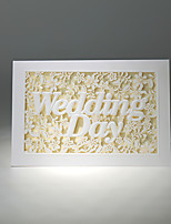 Personalized Folded  Wedding Invitations Invitation Cards-50 Piece/Set Pearl Paper Horizontal