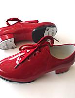 Sapatos de Dança(Preto / Vermelho) -Infantil-Não Personalizável-Sapateado