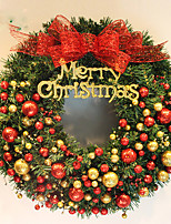 Christmas Wreath 2 Colors Pine Needles Christmas Decoration For Home Party Diameter 40cm Navidad New Year Supplies