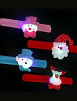 4pcs Children Clap Your Hands Ring 7Colorful Decoration Atmosphere Lamp Novelty Lighting Christmas Light