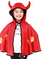 Factory Direct Halloween Cloak Masquerade Child Performance Supplies Pumpkin Cloak Child Horns Cloak