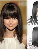 устойчивый естественный цвет волос волны горячая жары оптовой цене Selena Gomez в парики из синтетических волос с бесплатным зазором