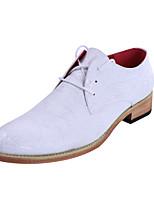 Черный Коричневый Белый Бежевый-Мужской-Повседневный-Полиуретан-На плоской подошве-Удобная обувь-Туфли на шнуровке