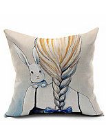 Cartoon Cotton Linen Throw Pillow Case Home Decorative  Cushion Cover Pillowcase Car Pillow cover(Set of 1)